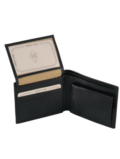 Portofel barbati din piele naturala Tuscany Leather negru