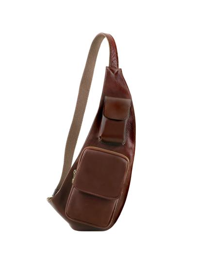Geanta barbati crossbody Tuscany Leather din piele maro