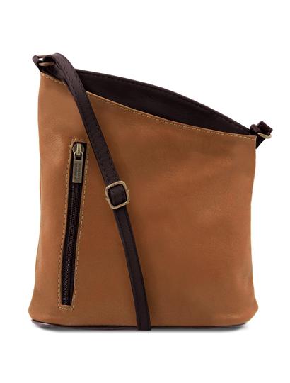 Geanta unisex Tuscany Leather din piele naturala coniac TL Bag