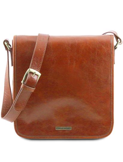 Geanta barbati din piele naturala Tuscany Leather, honey