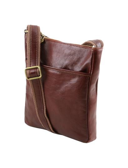 Geanta barbati din piele naturala Tuscany Leather, maro, Jason