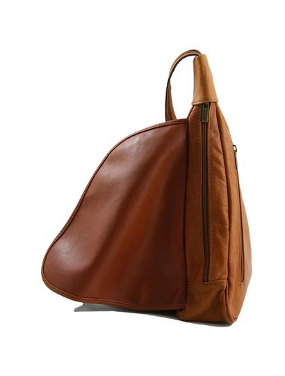 Rucsac dama coniac  piele naturala Tuscany Leather,  Hanoi