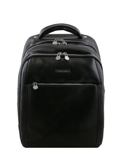 Rucsac laptop din piele naturala Tuscany Leather, negru, Phuket