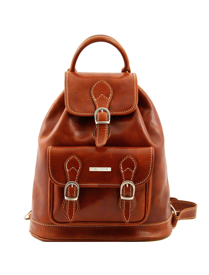 Rucsac din piele Tuscany Leather honey Singapore