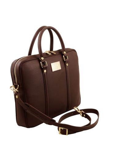 Geanta laptop maro inchis dama eleganta Tuscany Leather, Prato