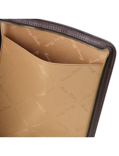 Mapa documente Tuscany Leather din piele naturala maro Lucio