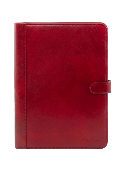 Mapa din piele naturala Tuscany Leather, rosie, Adriano