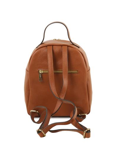 Rucsac dama  piele naturala Tuscany Leather, TL Bag, coniac