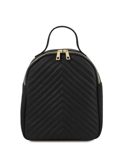 Rucsac dama din piele naturala Tuscany Leather, TL Bag, negru