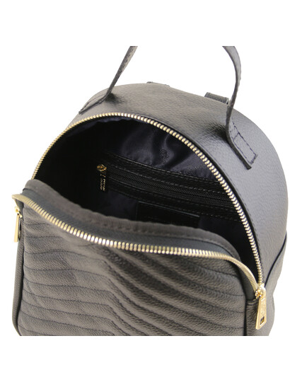 Rucsac dama negru din piele naturala Tuscany Leather, TL Bag