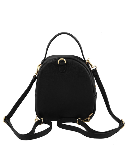 Rucsac dama negru  casual din piele naturala Tuscany Leather, TL Bag