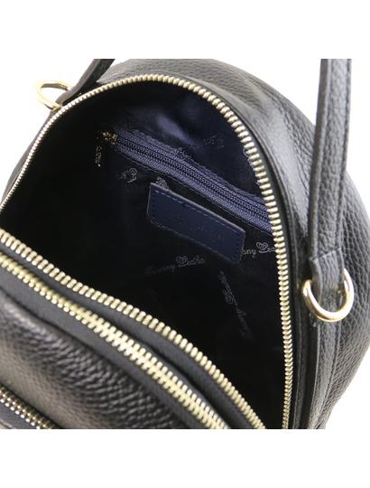 Rucsac  negru piele, dama casual  Tuscany Leather, TL Bag