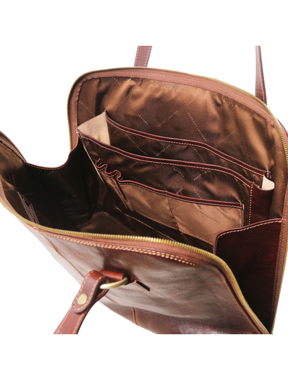 Servieta dama de piele naturala Tuscany Leather, honey, Ravenna