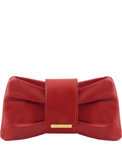 Plic dama Tuscany Leather din piele naturala rosie, Priscilla