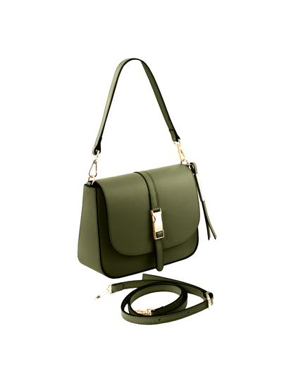 Geanta verde piele naturala dama Tuscany Leather, Nausica