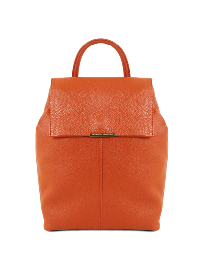 Rucsac dama din piele naturala Tuscany Leather, brandy