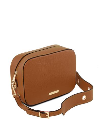 Geanta dama de umar din piele naturala coniac, Tuscany Leather, TL Bag