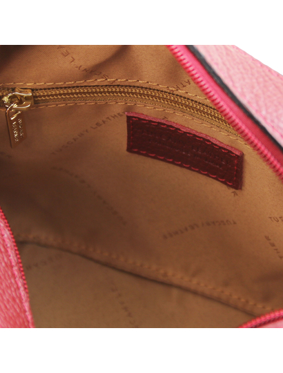 Geanta dama de umar din piele naturala, rosie, Tuscany Leather, TL Bag