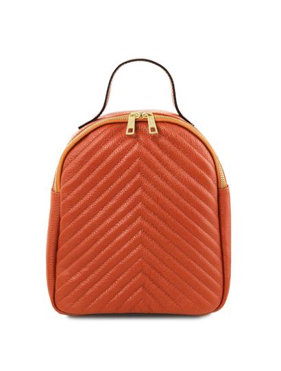 Rucsac dama din piele naturala Tuscany Leather, TL Bag, brandy