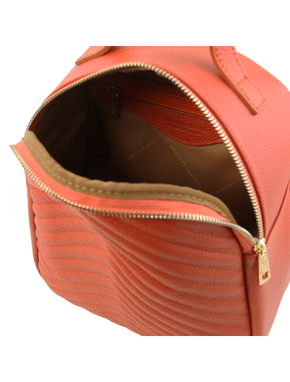Rucsac dama piele naturala Tuscany Leather, TL Bag, brandy