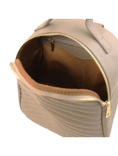 Rucsac dama  piele naturala Tuscany Leather, TL Bag, light taupe