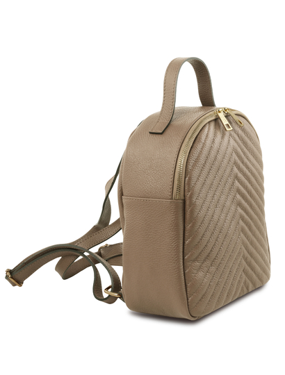 Rucsac dama din piele naturala Tuscany Leather, TL Bag, light taupe