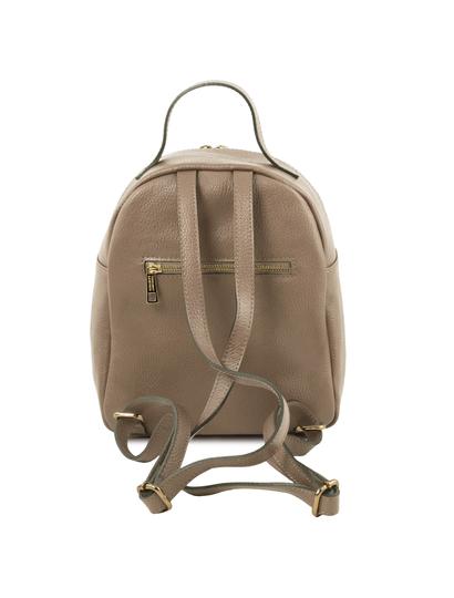 Rucsac dama din piele naturala Tuscany Leather, TL Bag, light taupe