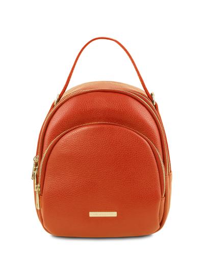 Rucsac dama din piele naturala Tuscany Leather, brandy, TL Bag