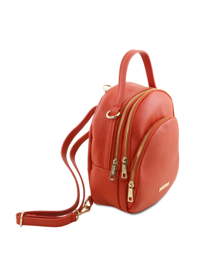 Rucsac dama din piele naturala Tuscany Leather, brandy, TL Bag