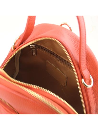 Rucsac dama  piele naturala Tuscany Leather, brandy, TL Bag