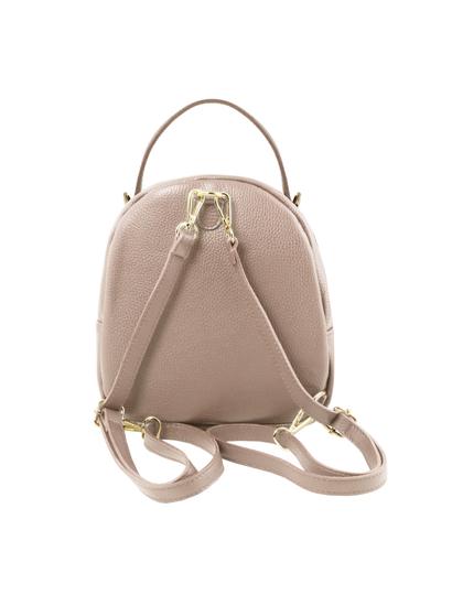Rucsac dama  piele naturala Tuscany Leather, nude, TL Bag