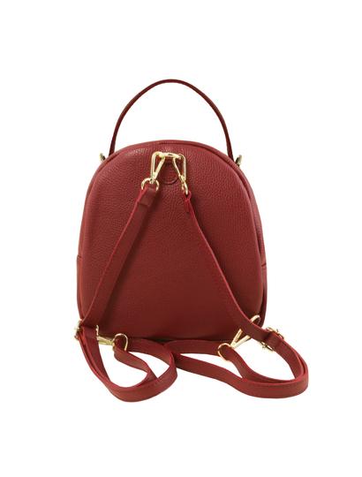 Rucsac dama rosu din piele naturala Tuscany Leather, TL Bag