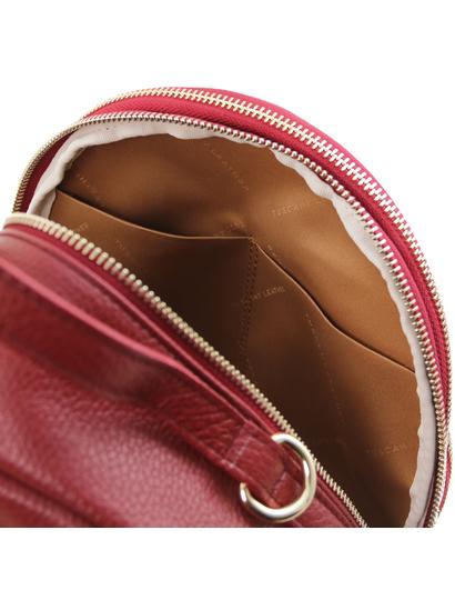 Rucsac dama din piele naturala Tuscany Leather, rosu, TL Bag