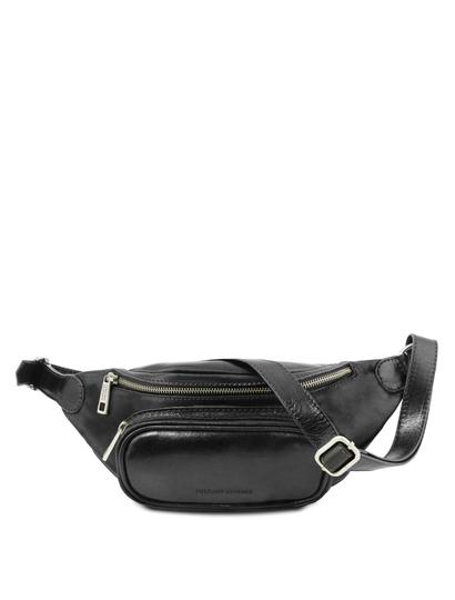 Borseta barbateasca din piele naturala Tuscany Leather, neagra