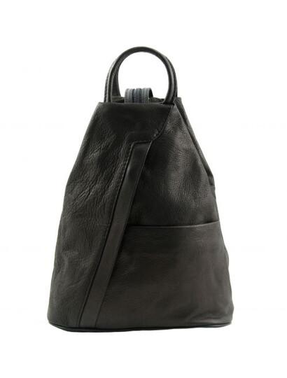 Genti dama | Shanghai - Rucsac din piele negru - Tuscany Leather