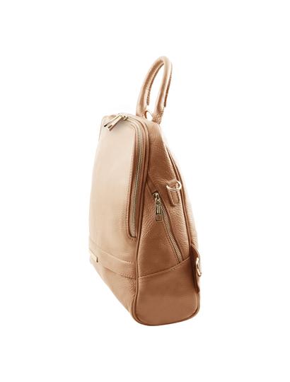 Rucsac dama piele naturala Tuscany Leather, sampanie, TL Bag