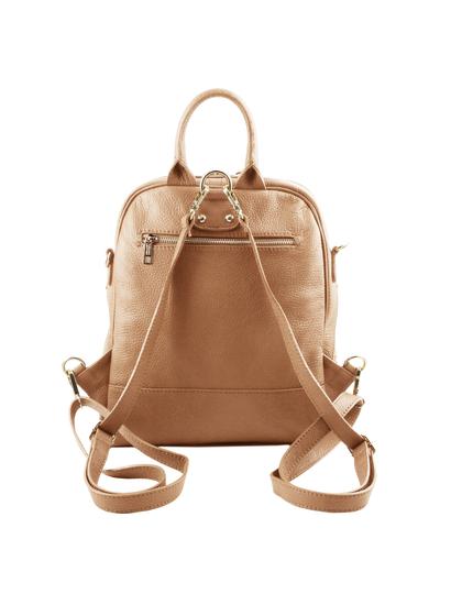 Rucsac piele naturala Tuscany Leather, sampanie, TL Bag
