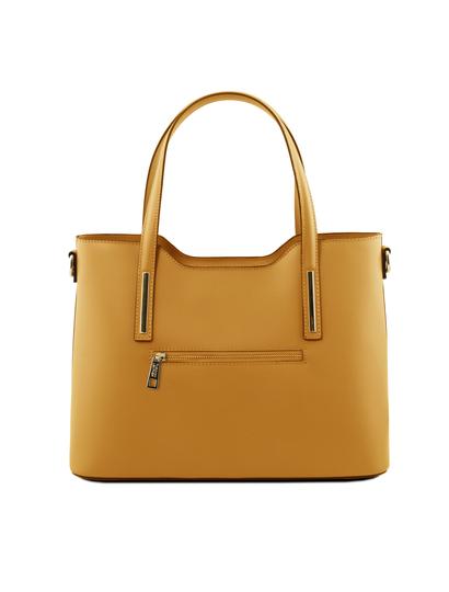 Geanta galben mustar dama Tuscany Leather
