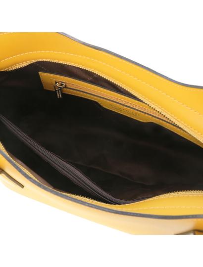 Geanta galben mustar Tuscany Leather, Olimpia