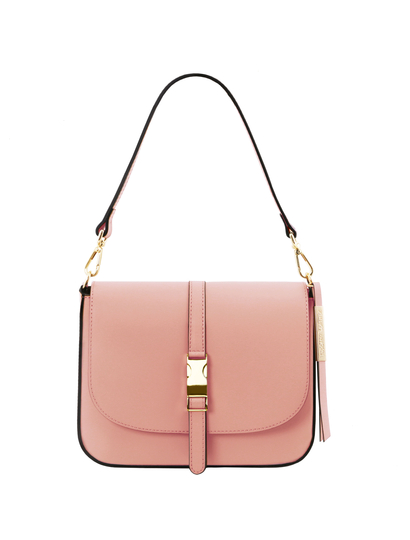 Geanta piele naturala dama Tuscany Leather, roz pal, Nausica