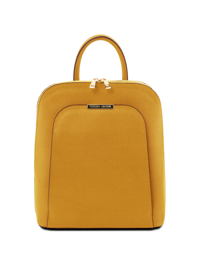 Rucsac dama din piele naturala galben mustar Tuscany Leather