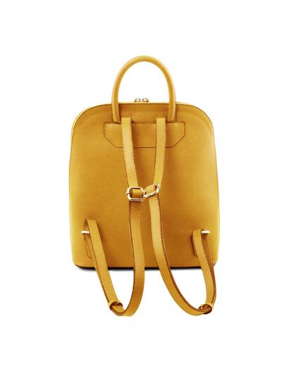 Rucsac dama galben mustar Tuscany Leather