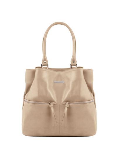 Geanta piele naturala dama Tuscany Leather, light taupe