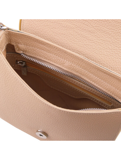 Geanta dama piele naturala Tuscany Leather, sampanie, Rosa