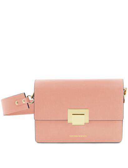 Plic dama din piele naturala Tuscany Leather, roz pal, Adele
