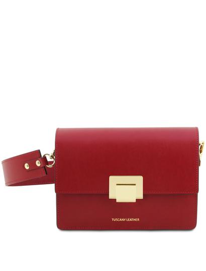 Plic rosu dama din piele naturala Tuscany Leather, Adele