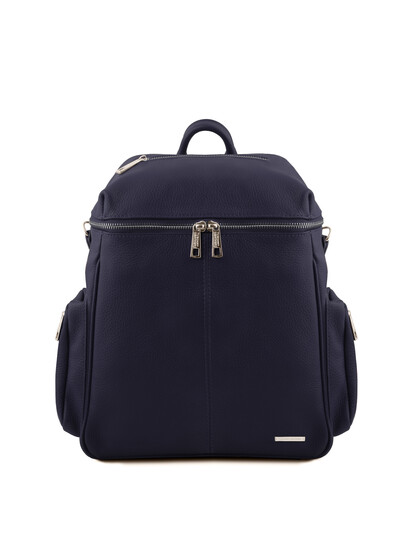 Rucsac dama din piele naturala albastru inchis Tuscany Leather, TL Bag