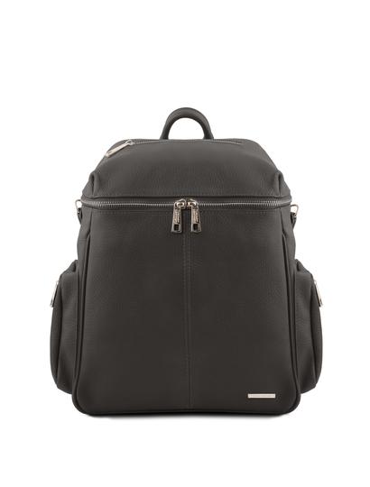 Rucsac dama gri inchis din piele naturala Tuscany Leather, TL Bag