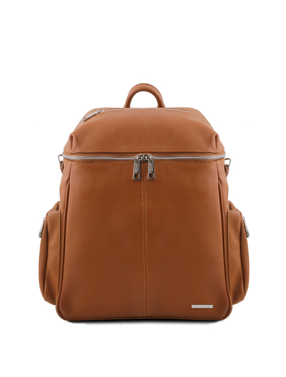 Rucsac dama din piele naturala coniac Tuscany Leather, TL Bag