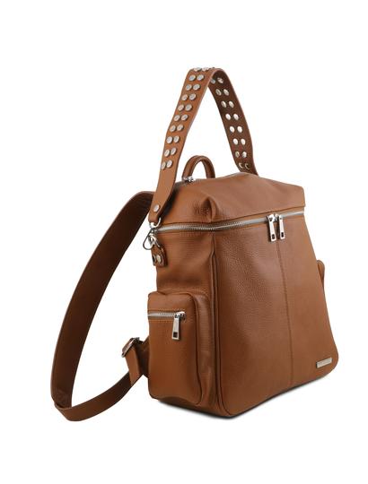 Rucsac piele naturala coniac Tuscany Leather, TL Bag